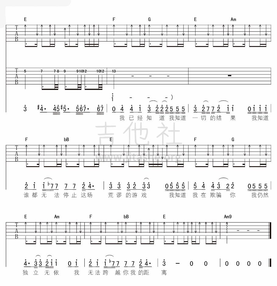 距离(不插电版)吉他谱(图片谱,弹唱,不插电)_超载乐队(高旗&超载)_7.png