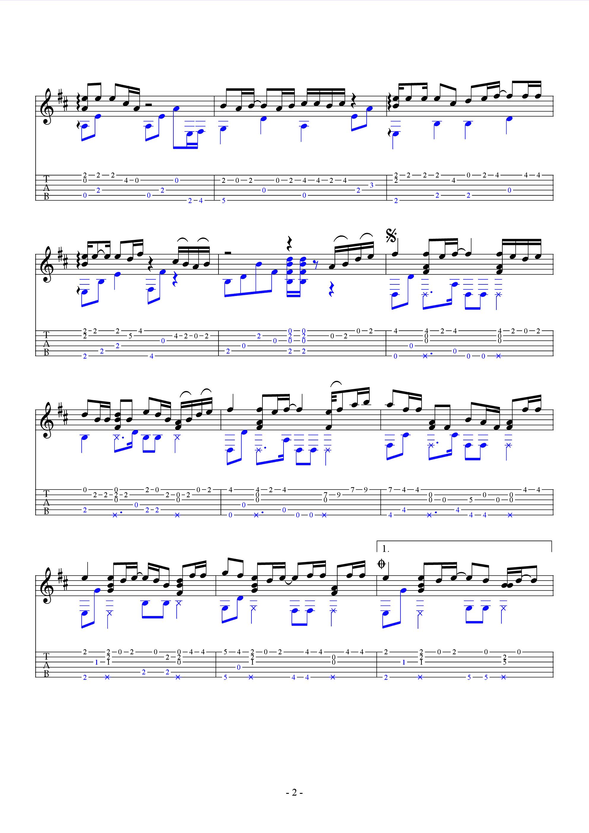 千千阙歌吉他谱(pdf谱)_叶锐文图片