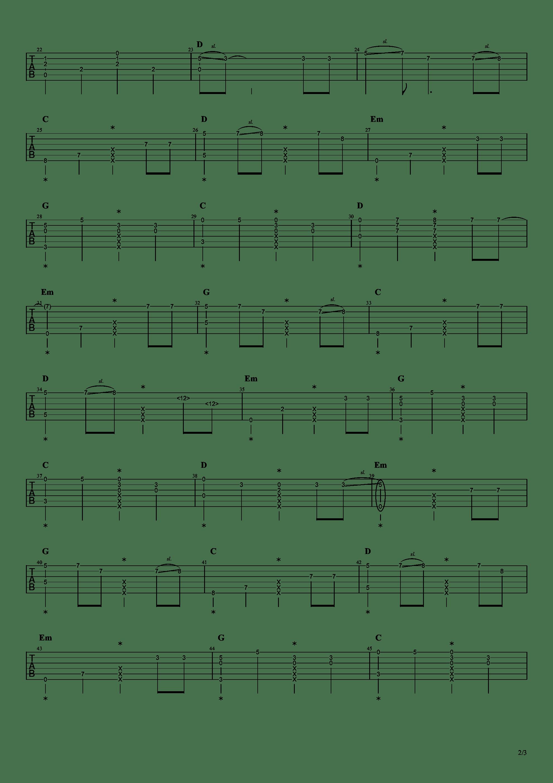 恋如雨止ED - Ref:rain吉他谱2