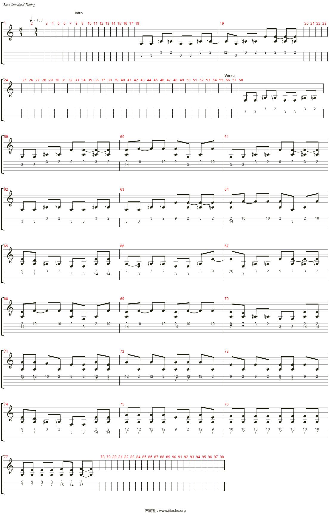My Turn吉他谱(Electric Bass)_Black Winter