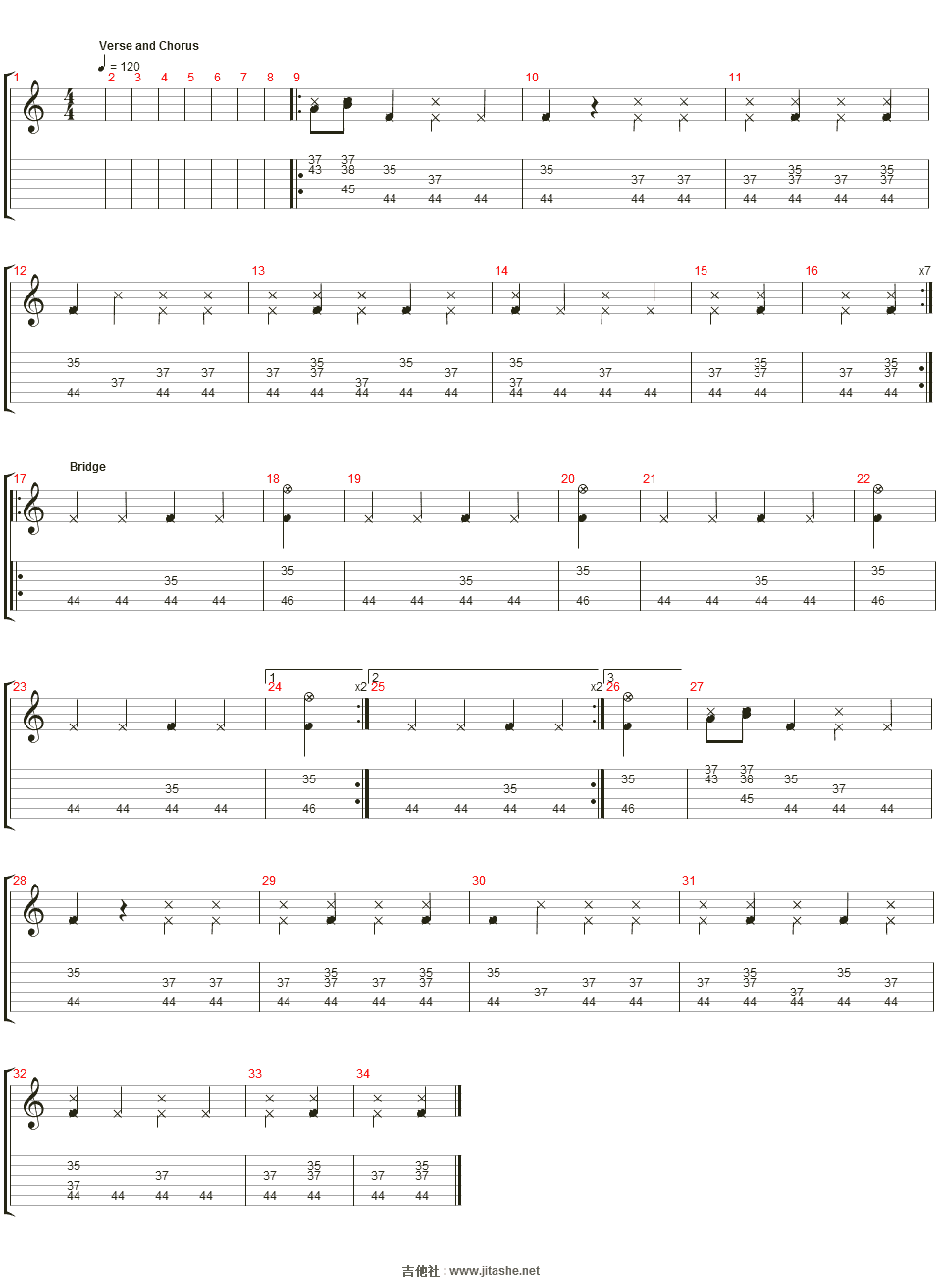 ?n_sing for you吉他譜(percusi髇)_tracy chapman