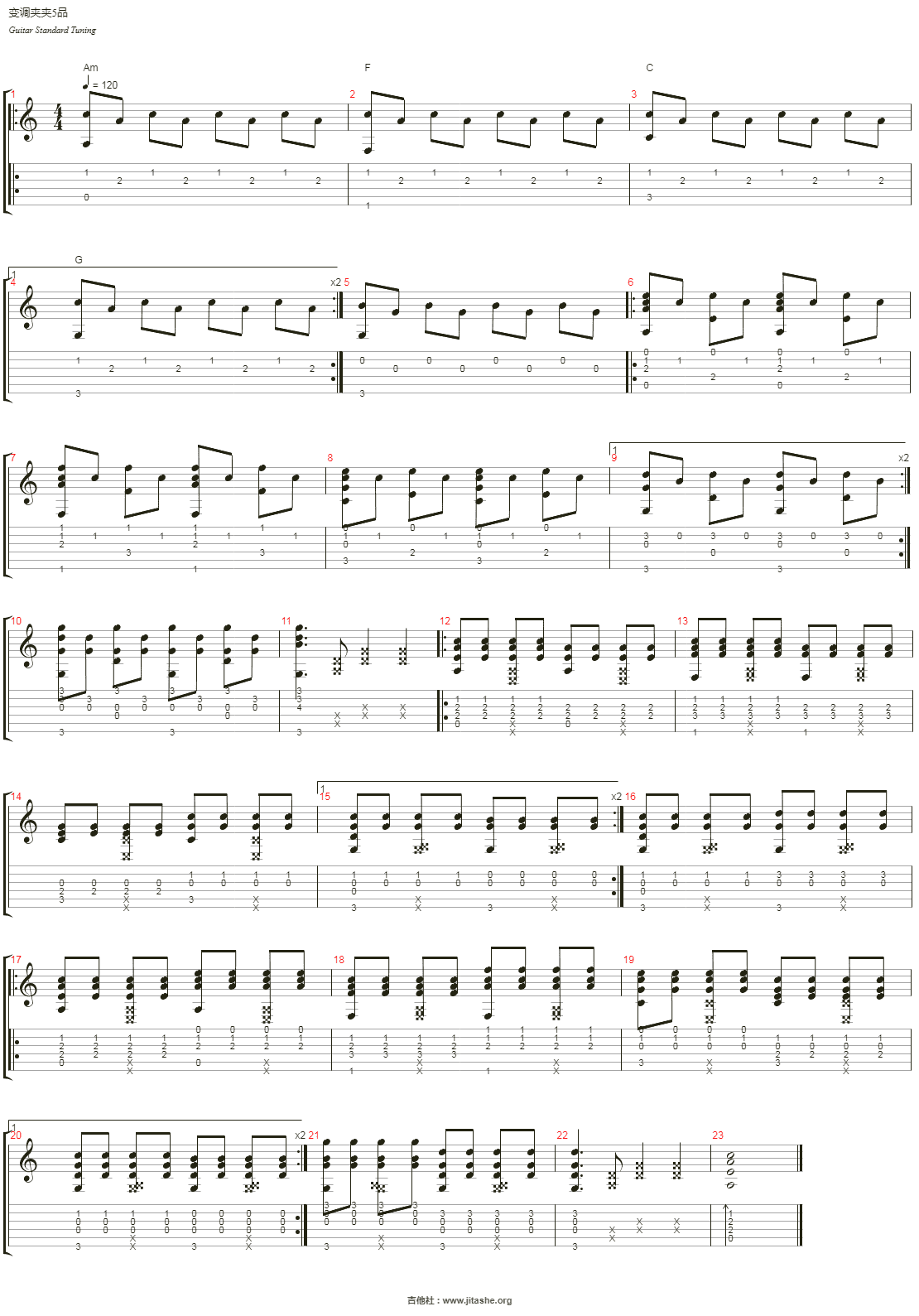 Breath and Life吉他谱(音轨 1)_AudioMachine