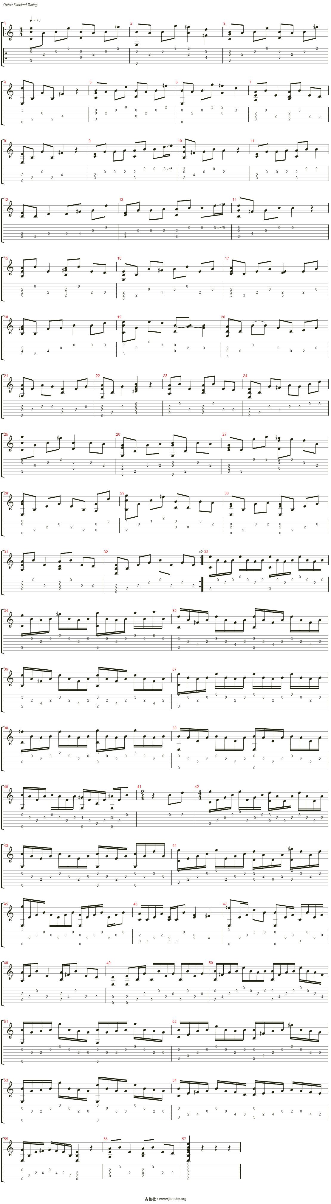 大鱼海棠印象曲吉他指弹图片