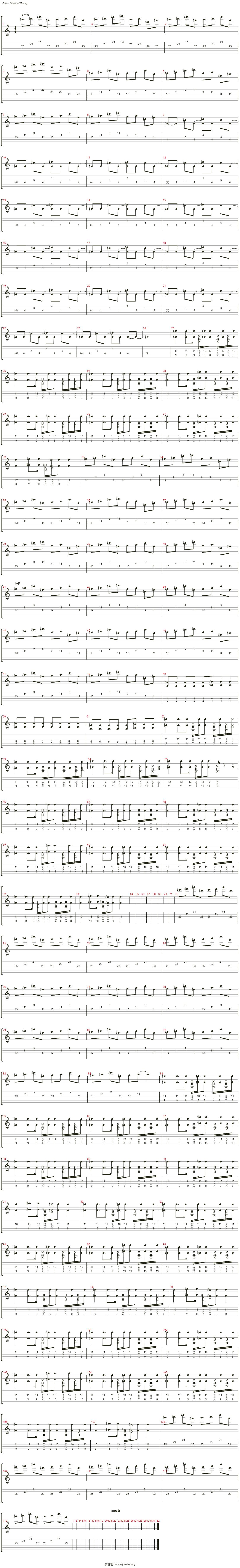 打上花火(自制乐队总谱)吉他谱(Steel Guitar)_DAOKO