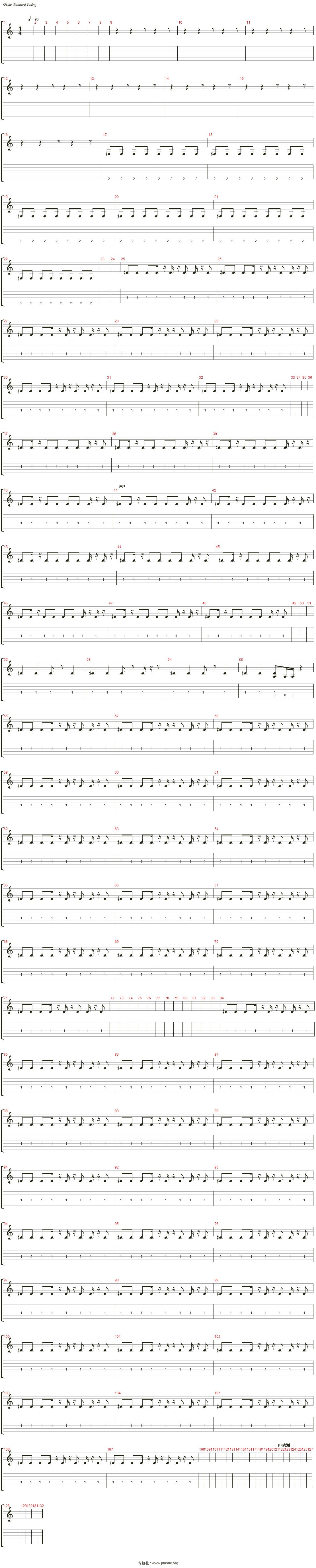 打上花火(自制乐队总谱)吉他谱(Drumkit)_DAOKO