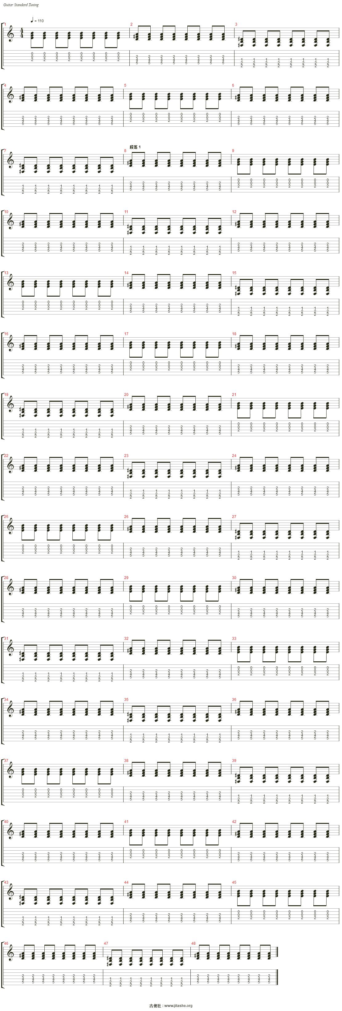 Time吉他谱(音轨 3)_MKJ