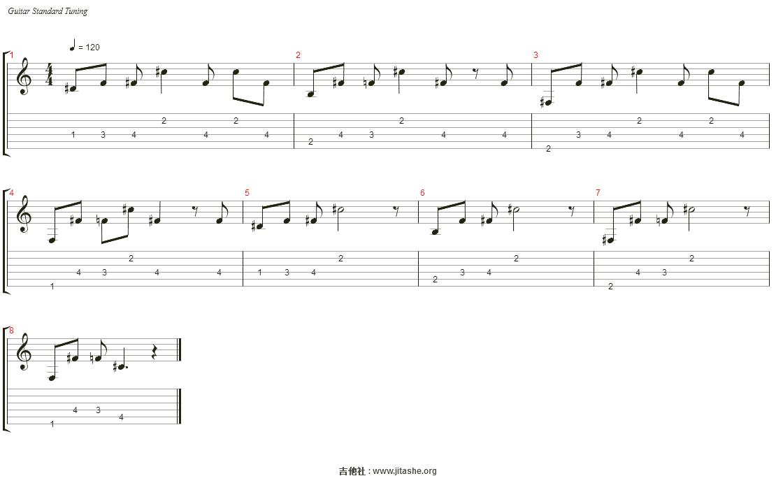 haunt u吉他谱(Electric Guitar)_Lil Peep