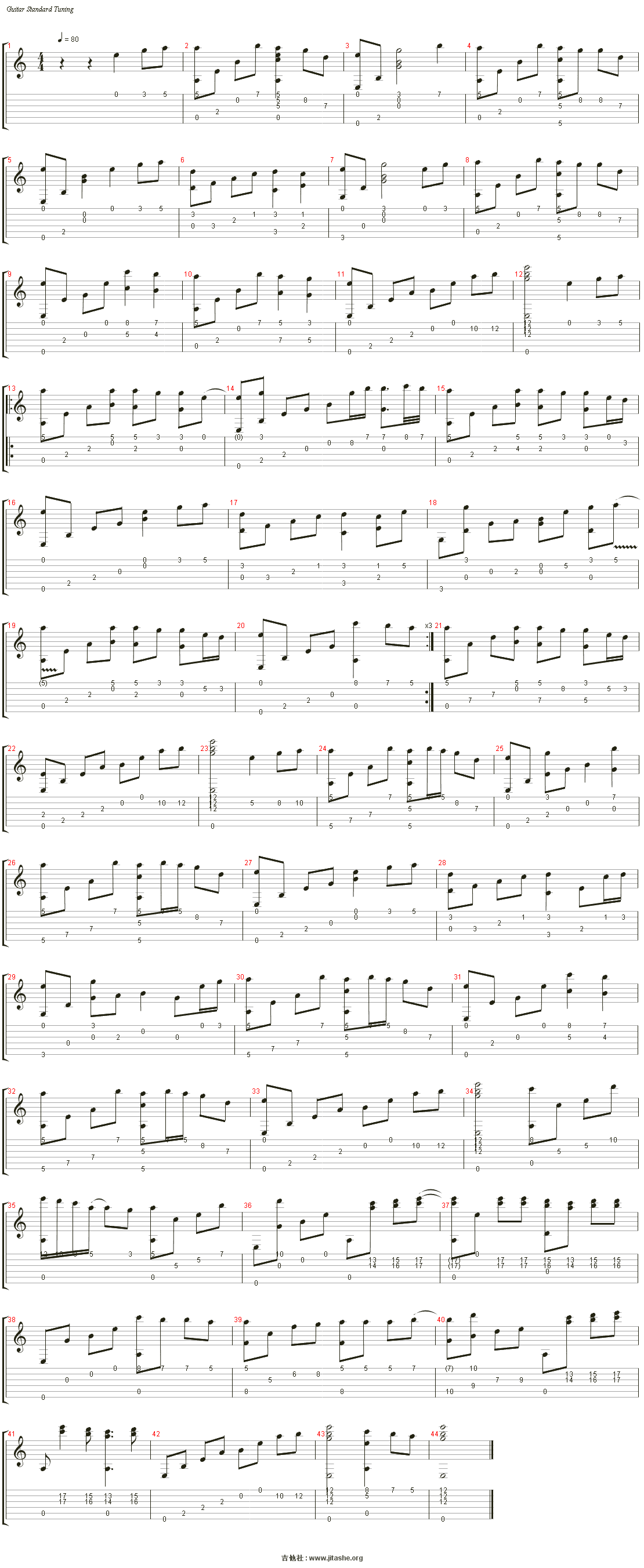 Bressanone(布列瑟农)吉他谱(Nylon Guitar)_Matthew Lien