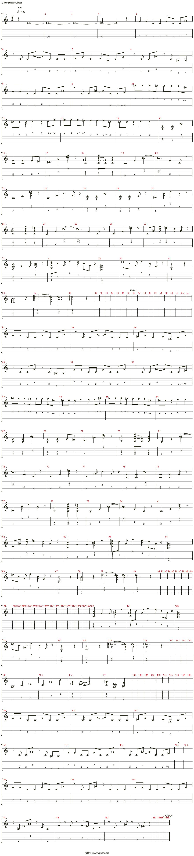 White Album 2 - 届かない恋吉他谱(Electric Guitar1)_动漫游戏
