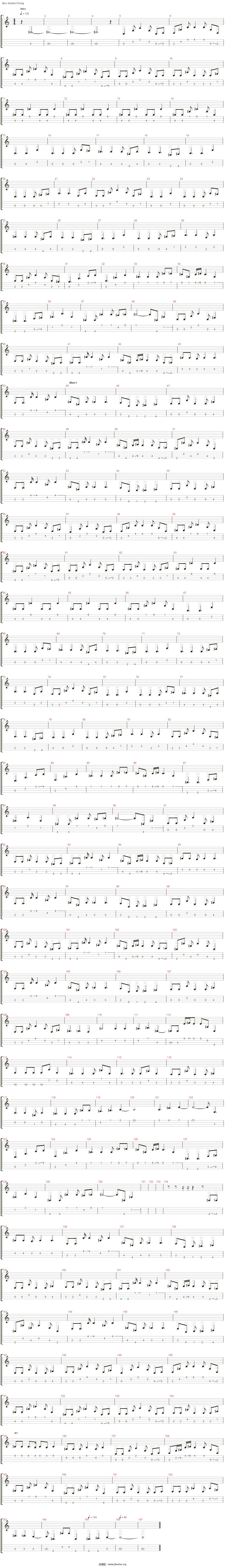 White Album 2 - 届かない恋吉他谱(Bass)_动漫游戏