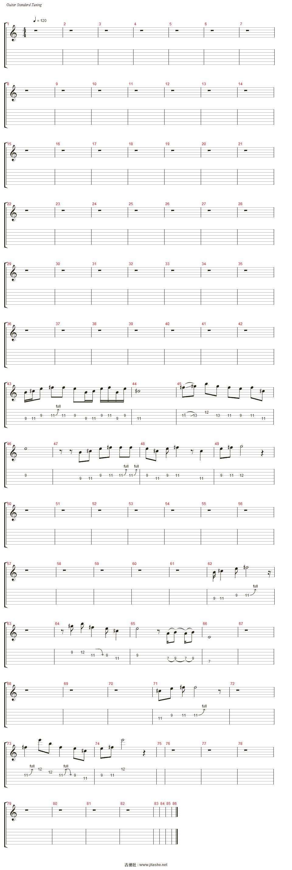 gotten吉他谱(track 3)_slash图片