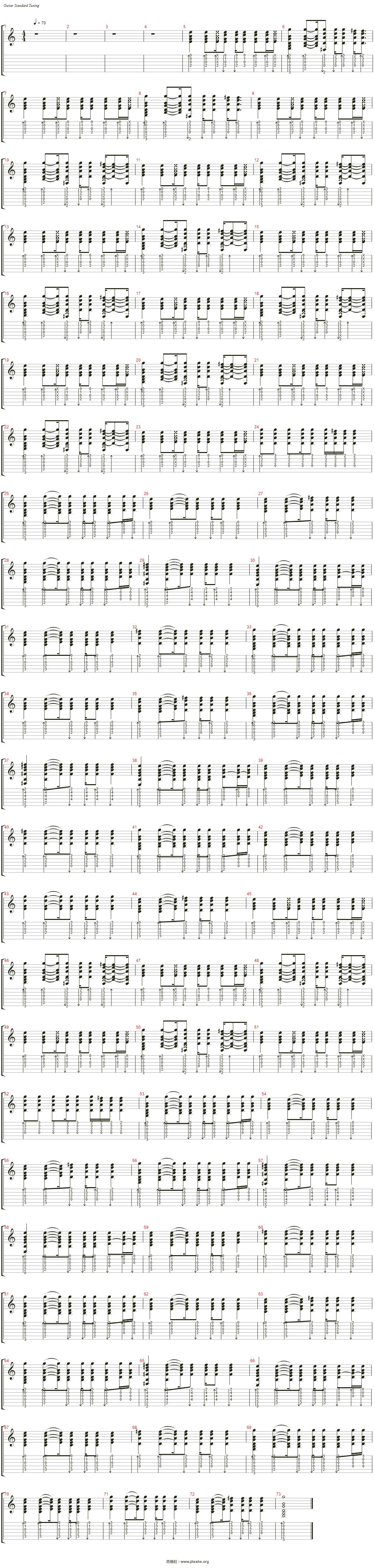 晴天吉他谱(Rhythm GT)_周杰伦