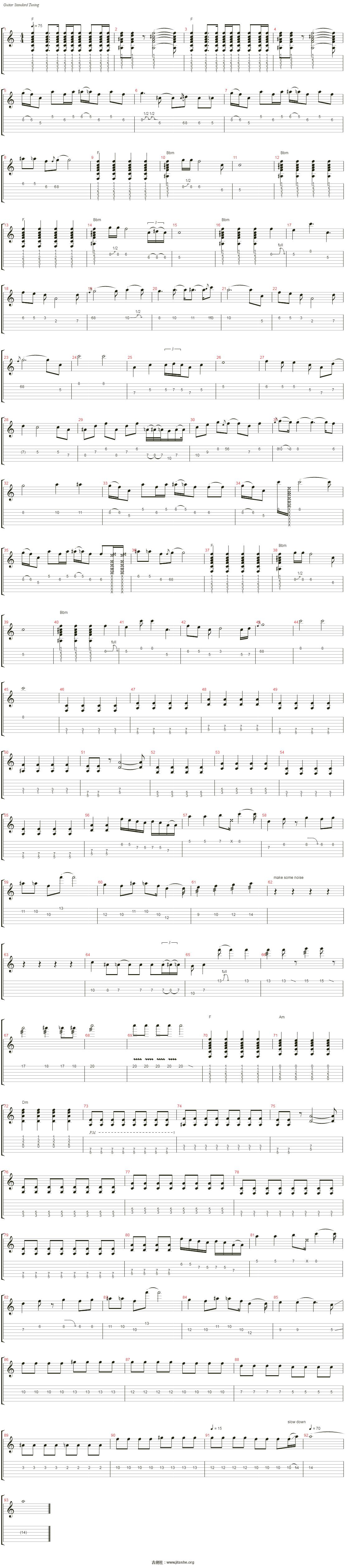 森林吉他谱(?瓂 1)_mr.