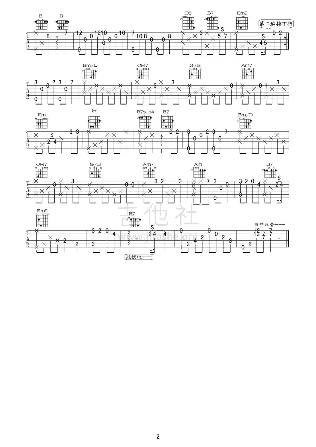 天空之城(正常调弦、接近原版)吉他谱(图片谱,独奏,泛音)_动漫游戏(ACG)_天空之城02.jpg