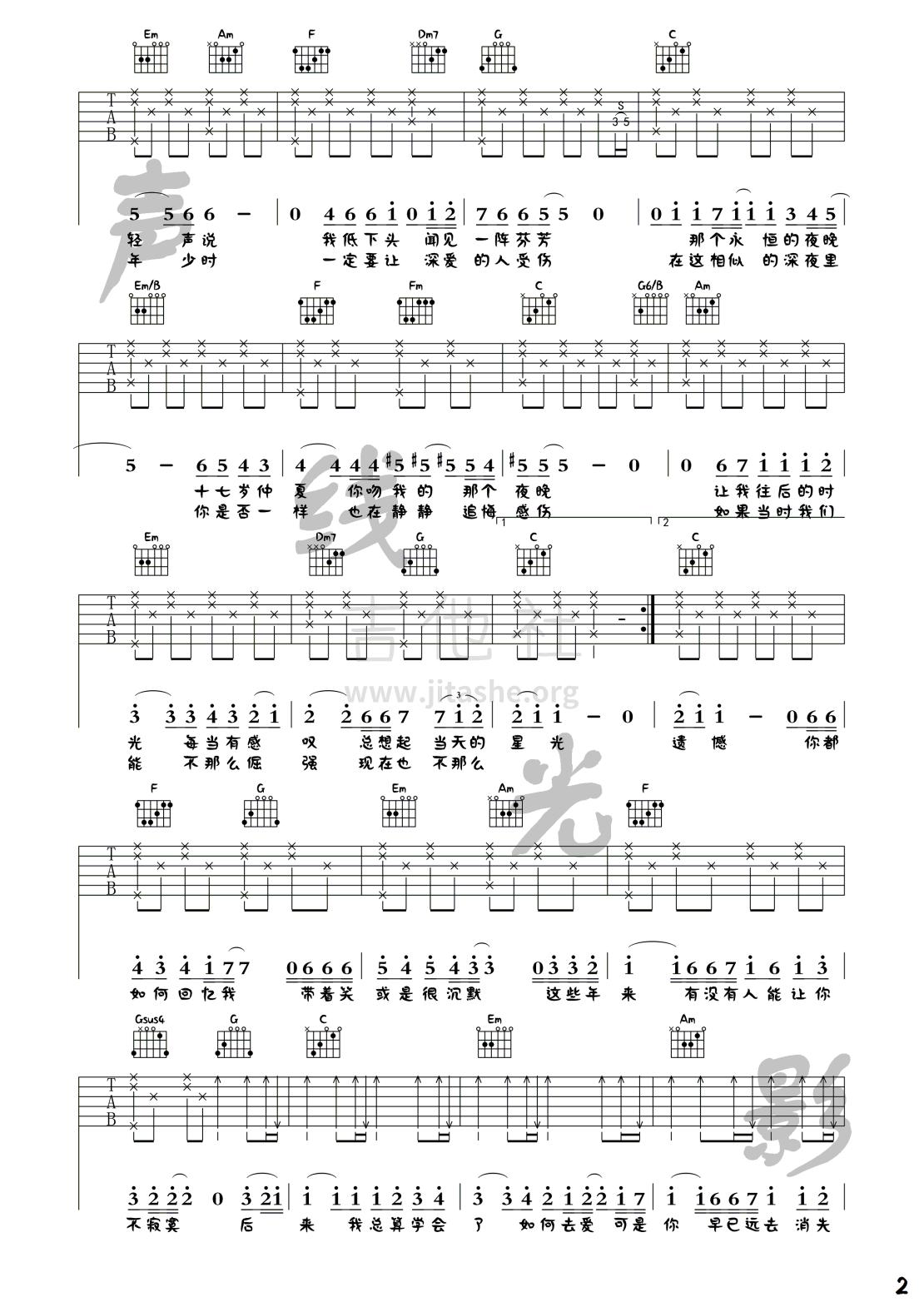 后来(声线光影木吉他教学第三十二期)吉他谱(图片谱,弹唱,简单版,教学)_刘若英(奶茶)_后来_2.png