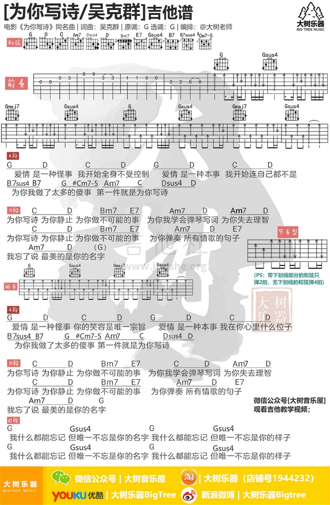 为你写诗吉他谱(图片谱,弹唱,教学,大树乐器)_吴克群(吴克羣;Kenji Wu)_模板_meitu_3_meitu_2.jpg