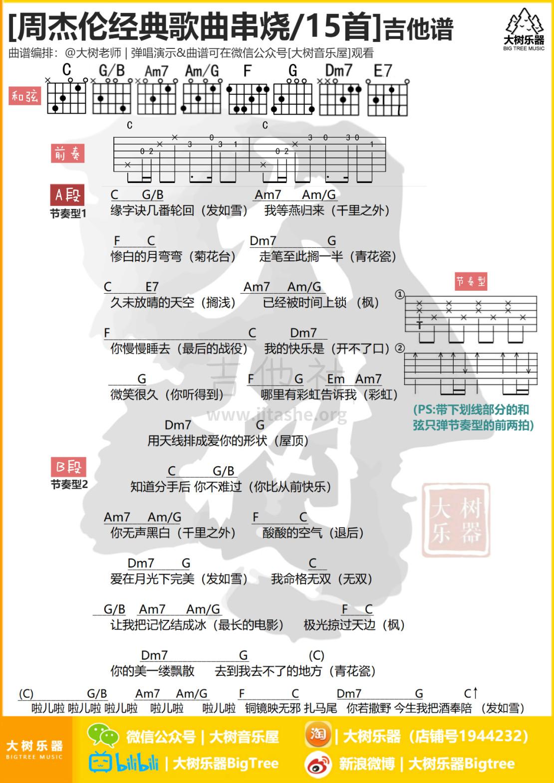 周杰伦15首歌曲经典串烧吉他谱(图片谱,弹唱,和弦谱,串烧)_周杰伦(Jay Chou)_模板_meitu_3_meitu_2_meitu_1.jpg