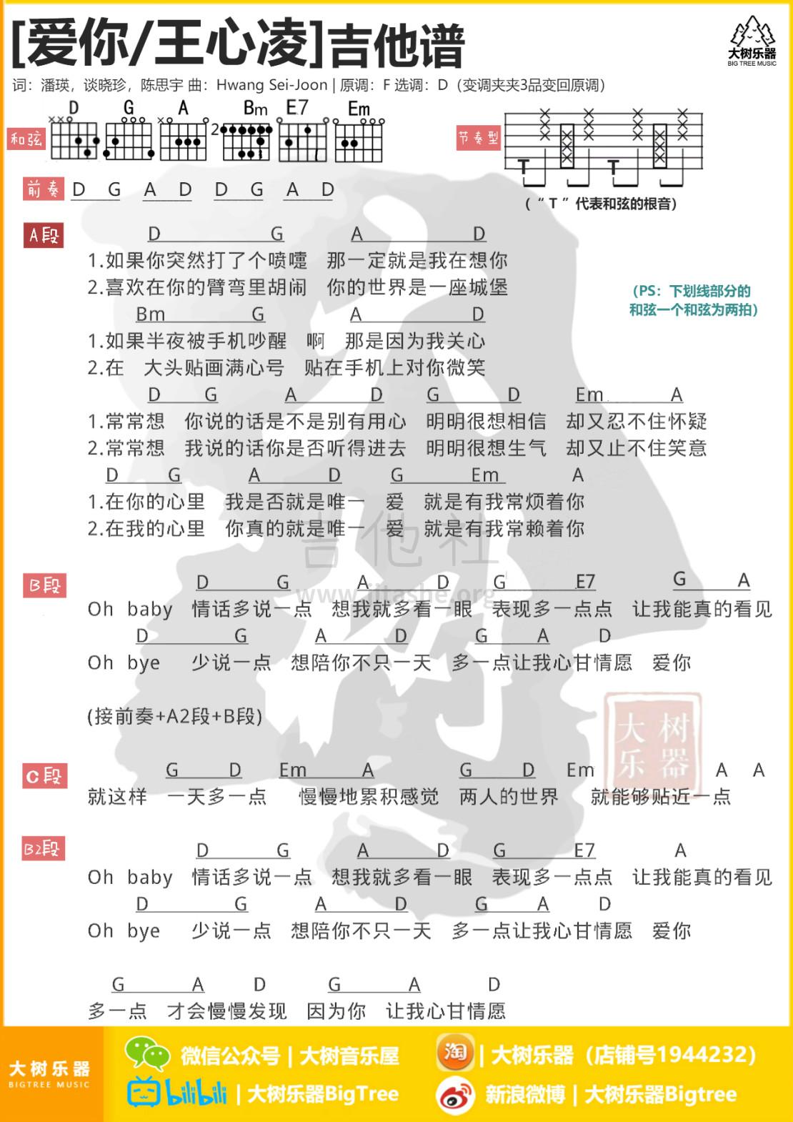 爱你吉他谱(图片谱,弹唱,教学,大树乐器)_王心凌(Cyndi Wang)_模板_memeitu_2.jpg