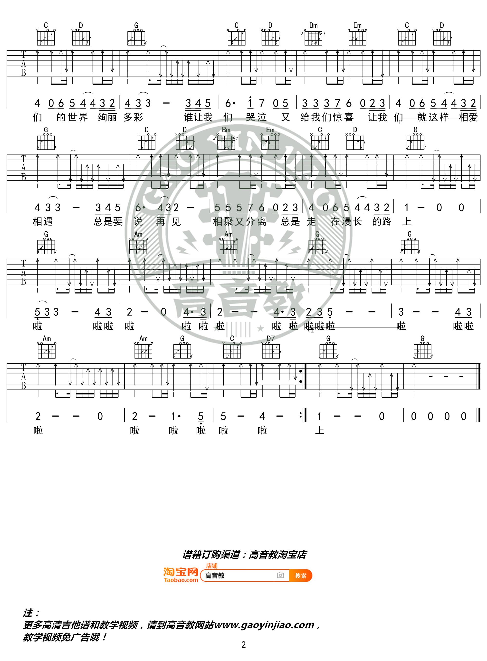 旅行吉他谱(图片谱,弹唱,G调,精华版)_许巍_《旅行》G调精华版02.jpg