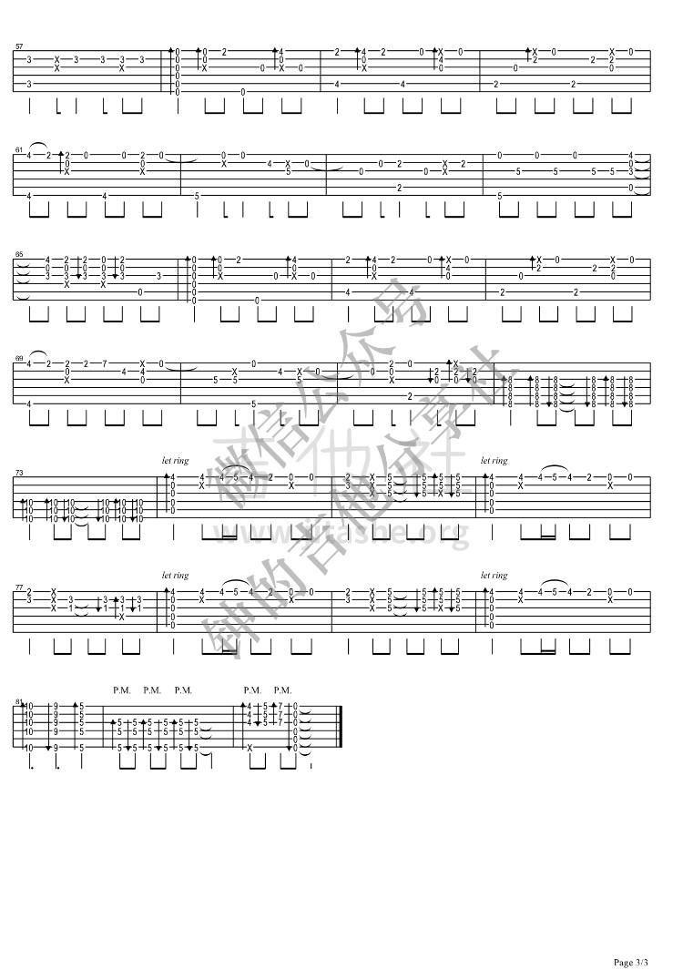 数码宝贝 - Butterfly吉他谱(图片谱,指弹)_动漫游戏(ACG)_3