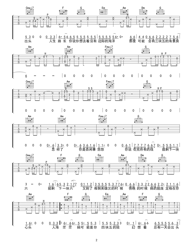 四块五吉他谱(图片谱,弹唱)_隔壁老樊(樊凯杰)_四块五02.jpg
