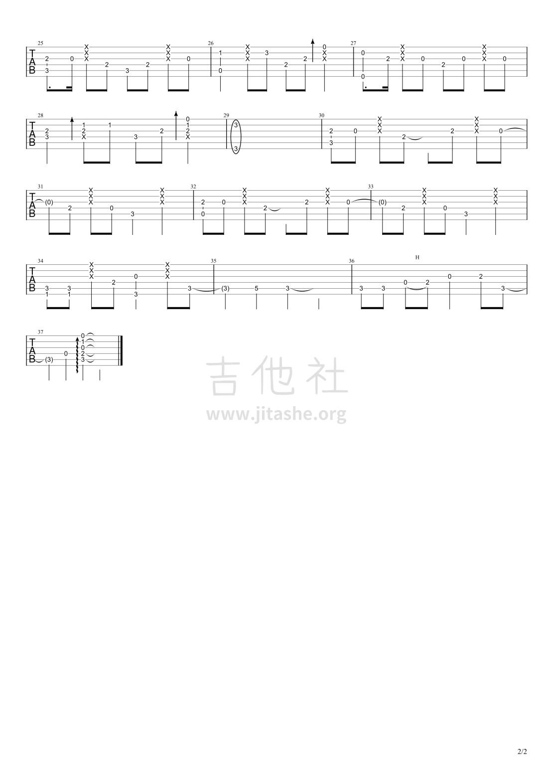 神兵小将片尾曲 - 不怕吉他谱(图片谱,指弹,南宫问雅)_动漫游戏(ACG)_不怕_2.jpg