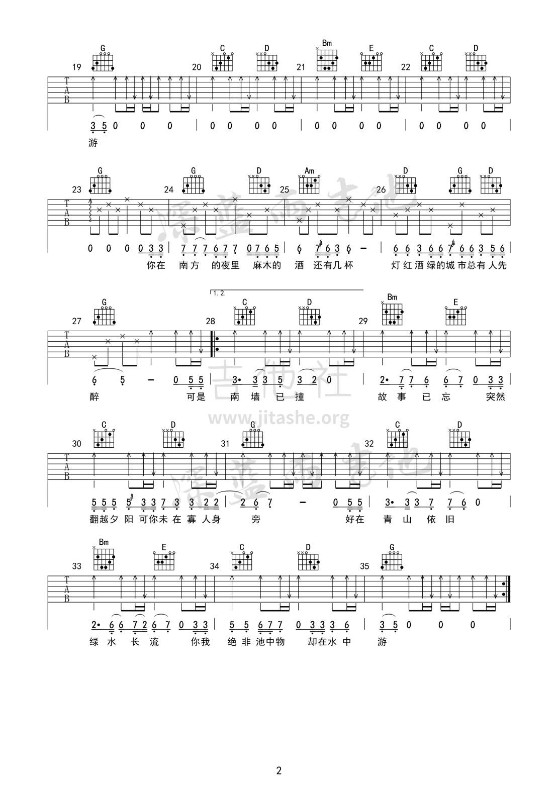 南墙已撞 故事已忘(深蓝雨吉他弹唱简单版)吉他谱(图片谱,弹唱)_林啟得_南墙已撞02.jpg