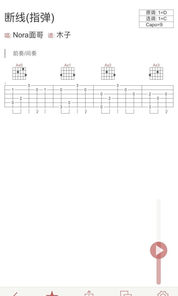 需要shang《断线》的吉他谱[image.jpg]