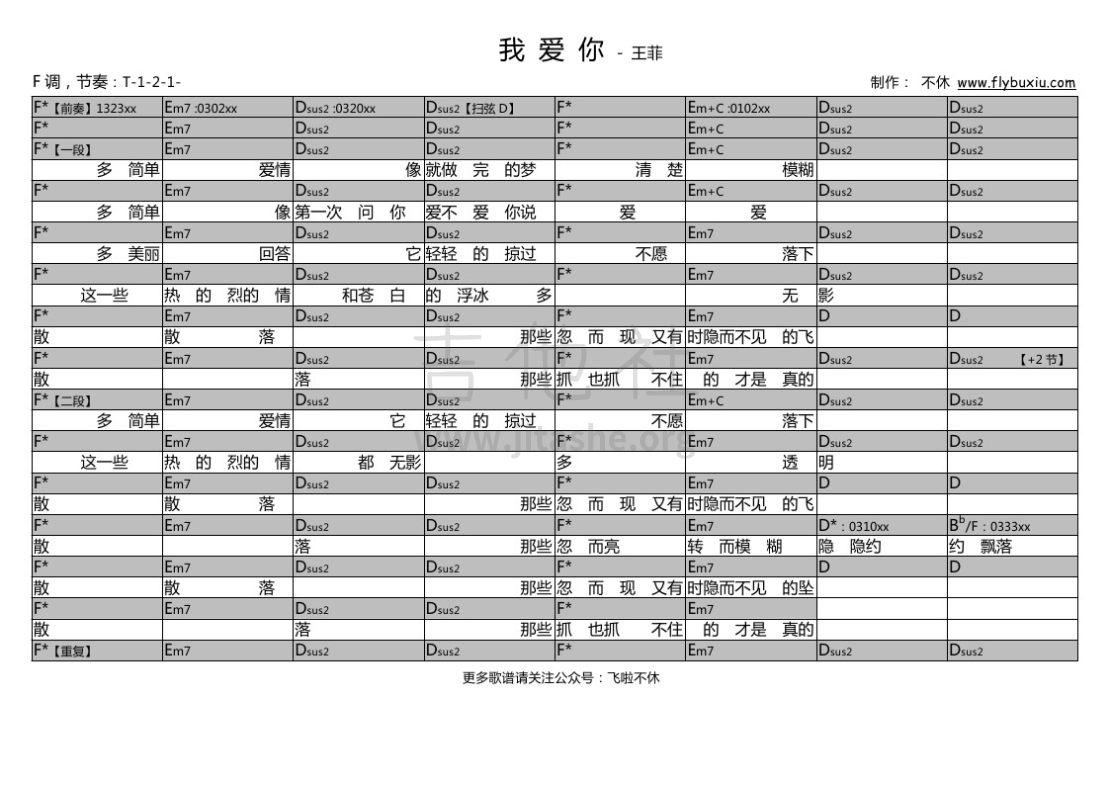 我爱你(不休弹唱谱)吉他谱(图片谱,弹唱)_王菲(Faye Wong)_王菲-我爱你0000.jpg