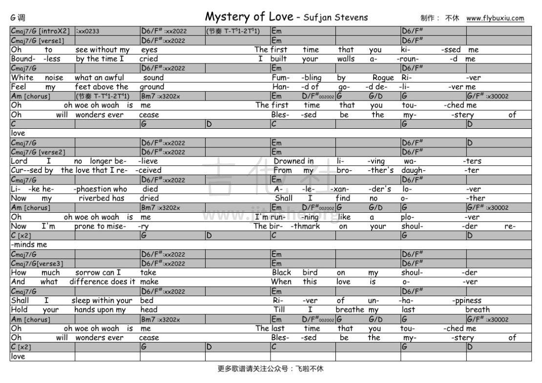 Mystery of Love(不休弹唱谱)吉他谱(图片谱,弹唱)_Sufjan Stevens_Sufjan Stevens-Mystery of Love0000.jpg