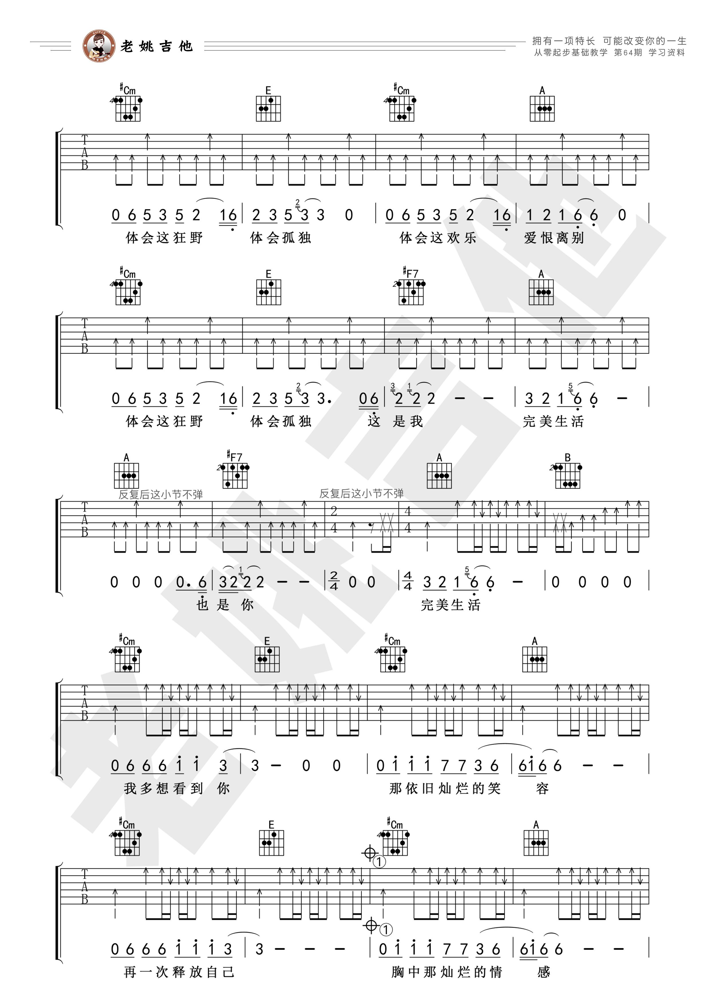 完美生活吉他谱(图片谱)_许巍_64资料2.jpg