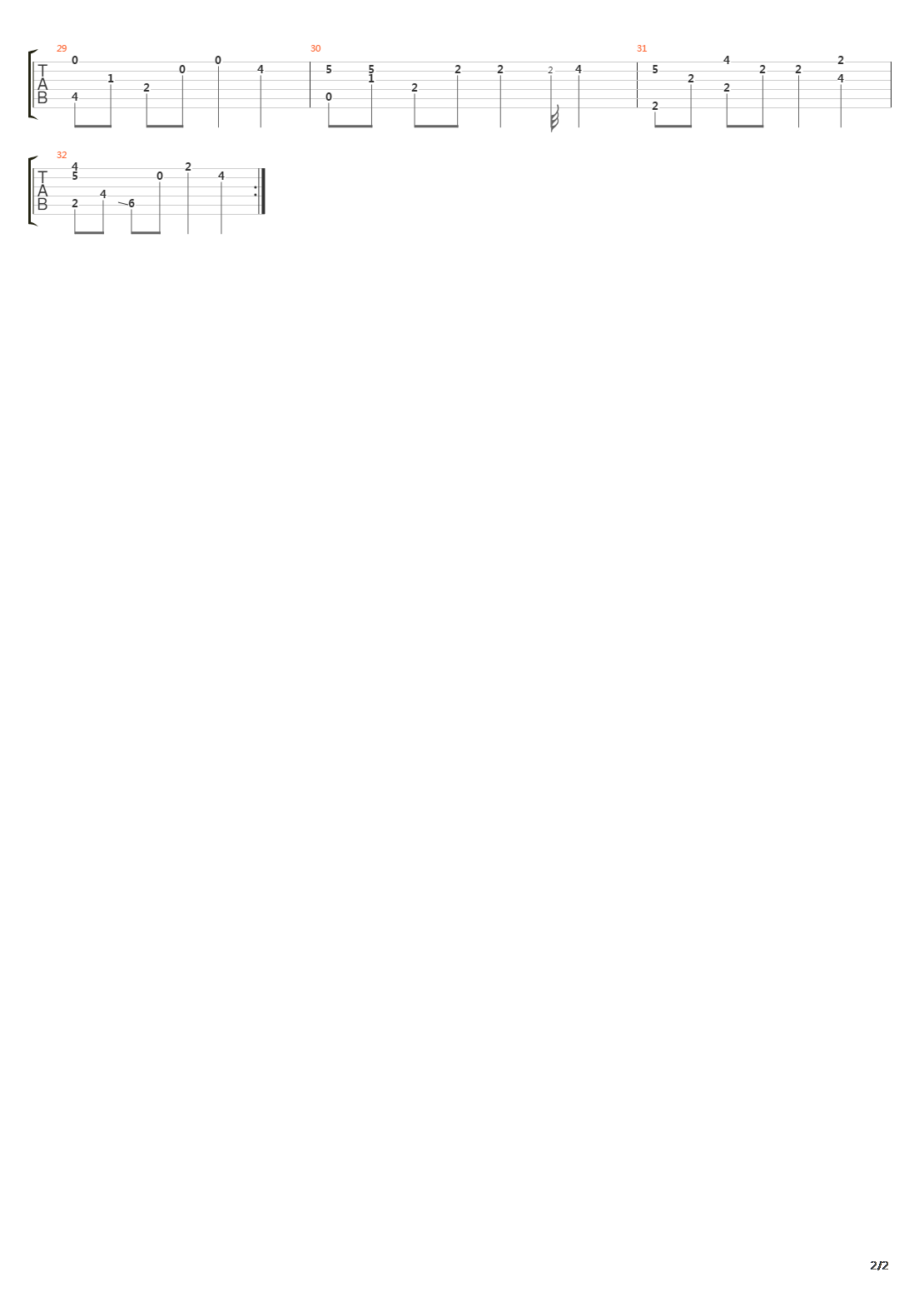 Nier(尼尔) - 穏ヤカナ眠リ(营地的bgm)吉他谱