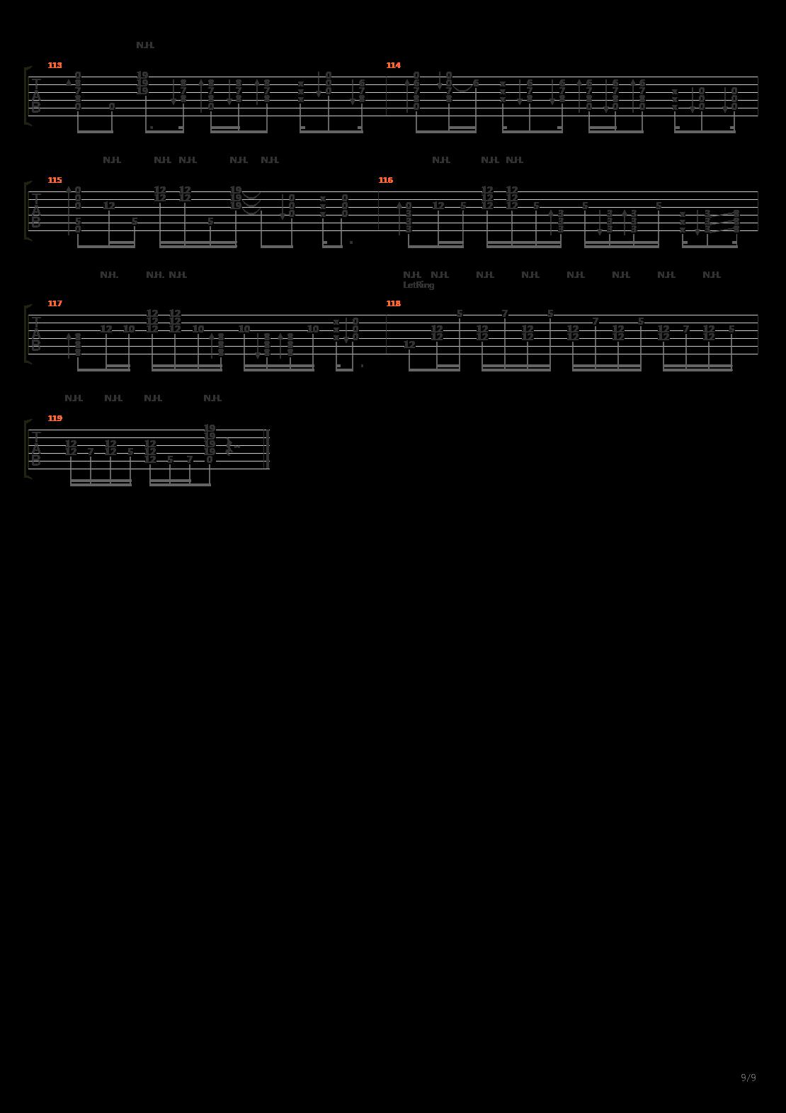蜃気楼(KTR&GTR)吉他谱