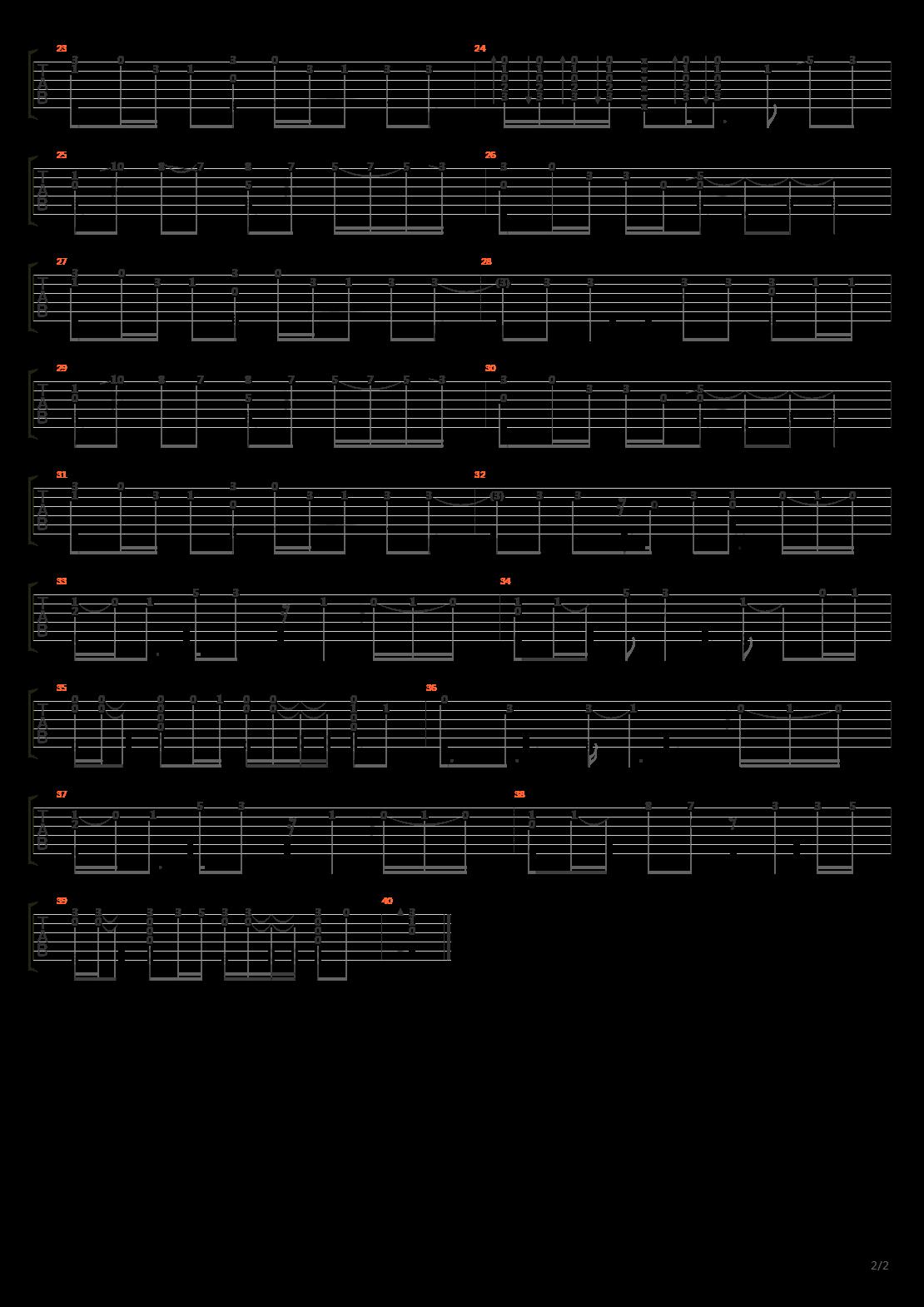 火影忍者OP20 - カラノココロ(彩色的心)吉他谱