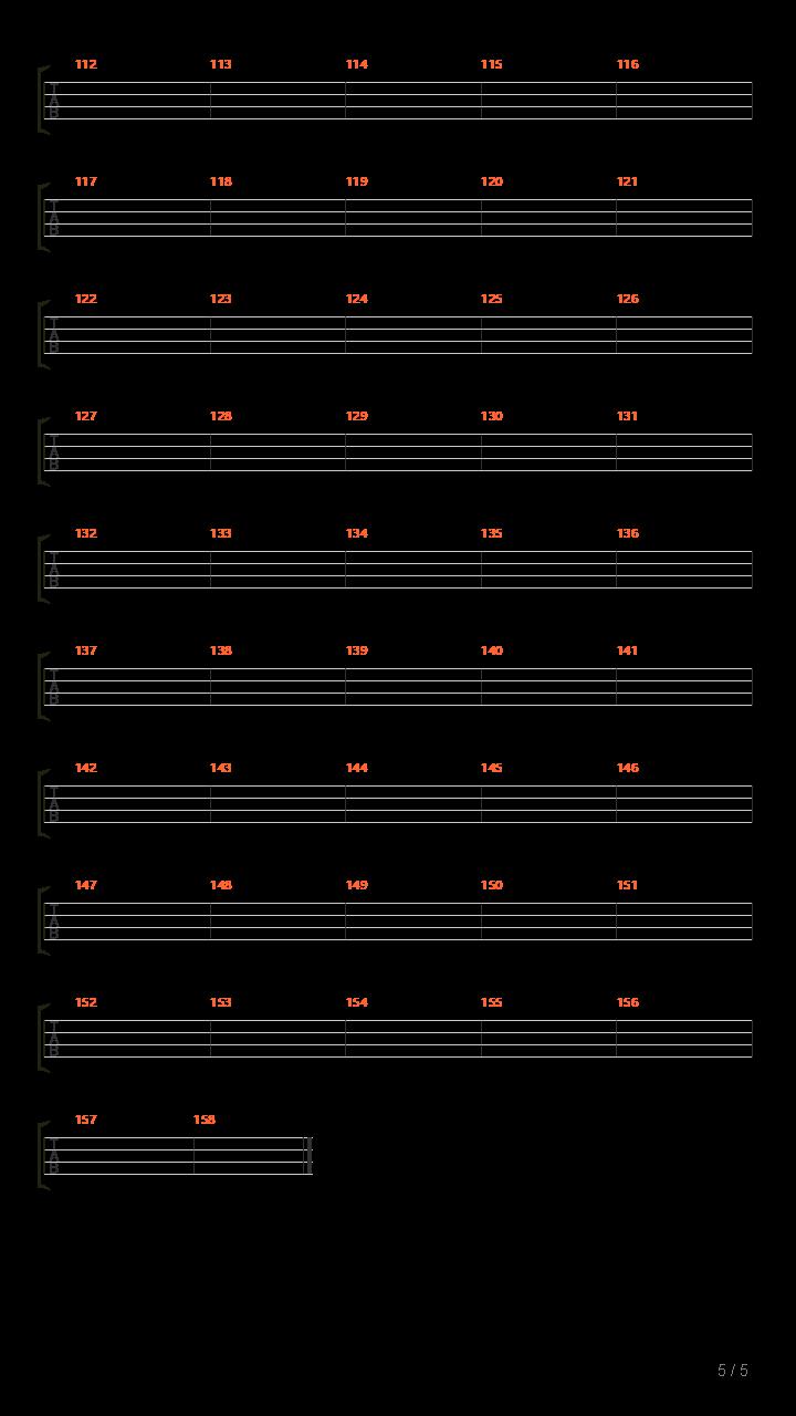 电动少女(原版)吉他谱