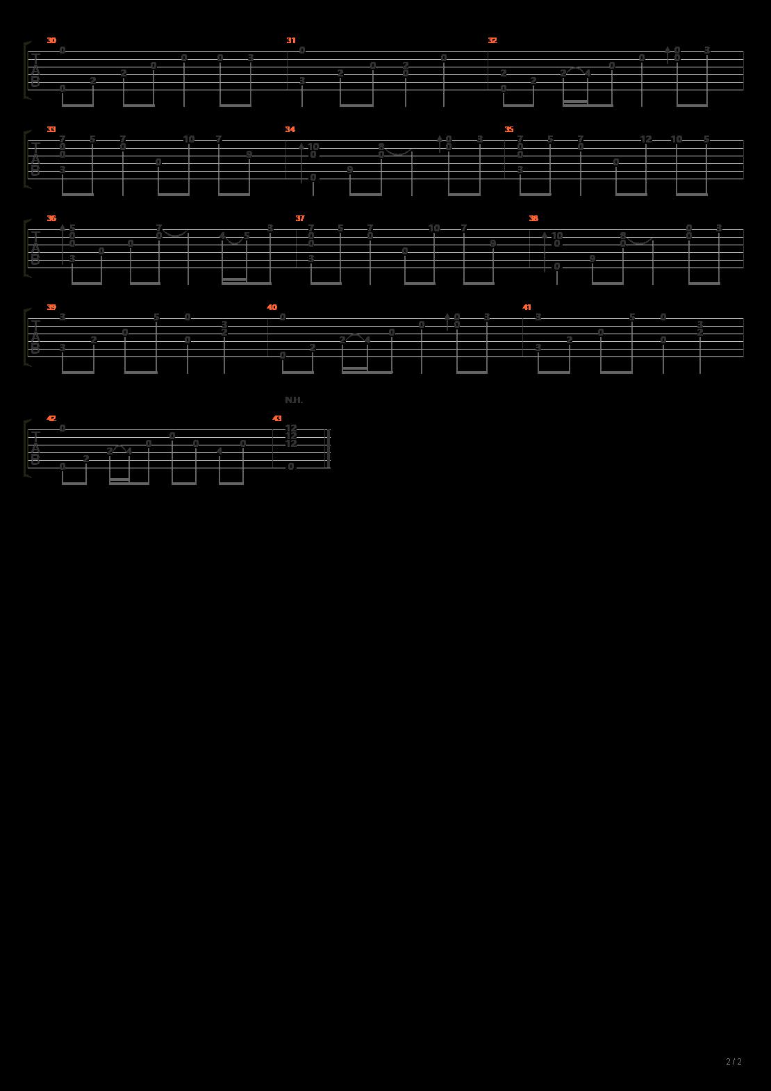 风居住的街道(标准调弦 张紫宇版)吉他谱