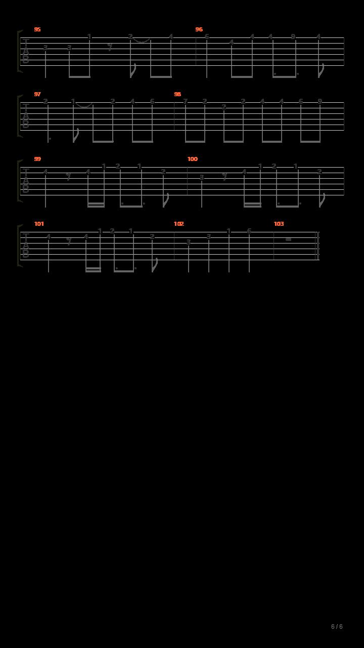 东方天空璋 - 一对神兽(一対の神獣 3面boss曲)吉他谱