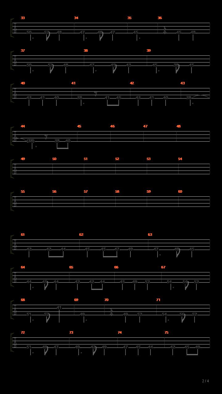 【东方地灵殿】廃獄ララバイ(总谱)吉他谱