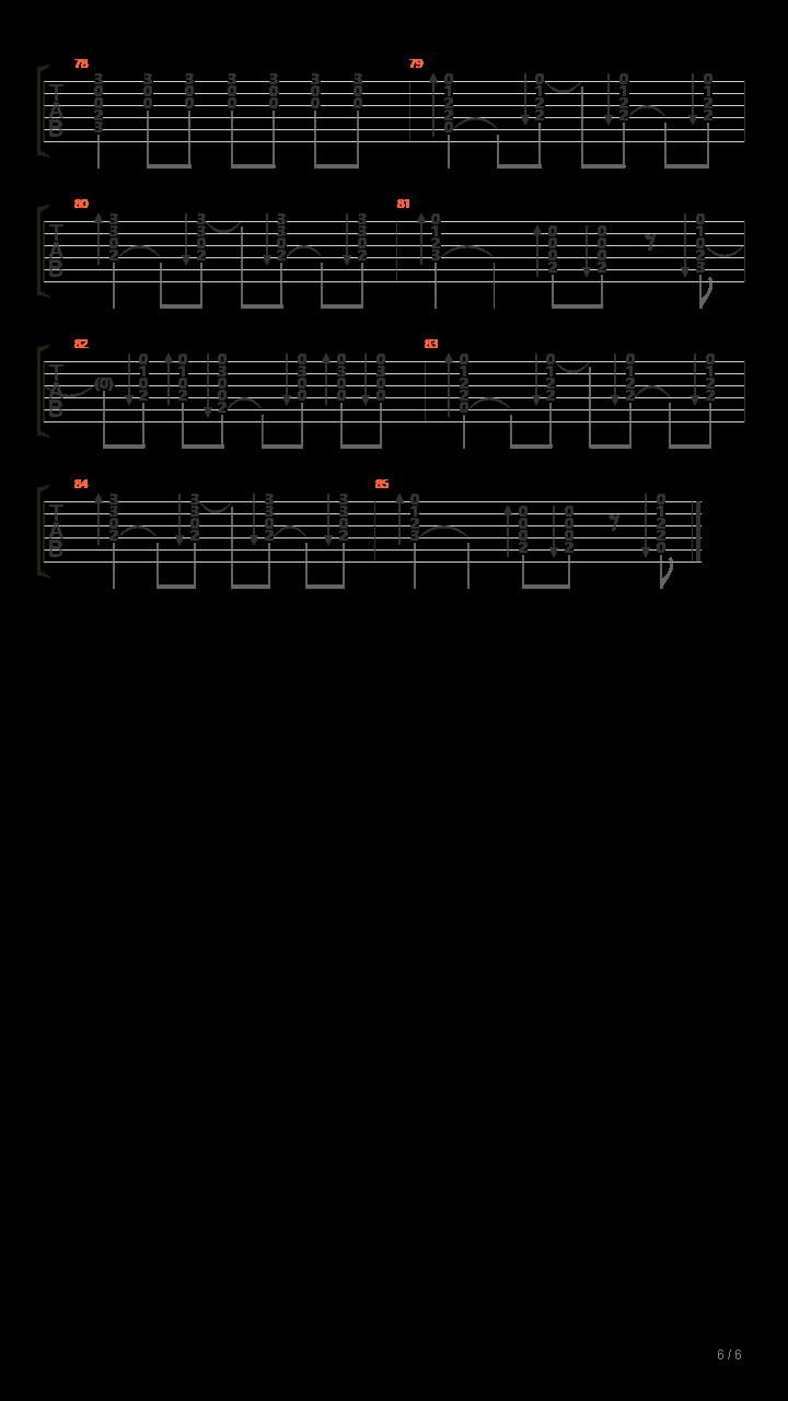 山雀(万能青年旅店)吉他谱