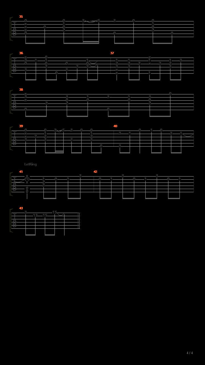 魔女之旅OP  リテラチュア   Literature  【标准弦】吉他谱