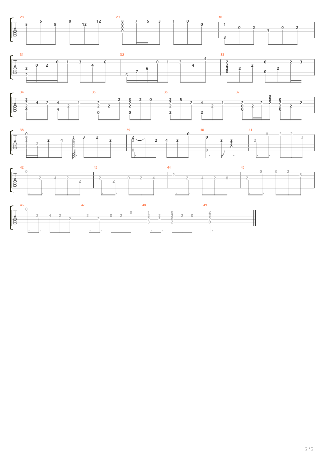 悠久的蒸汽机关(悠久の蒸気機関)吉他谱