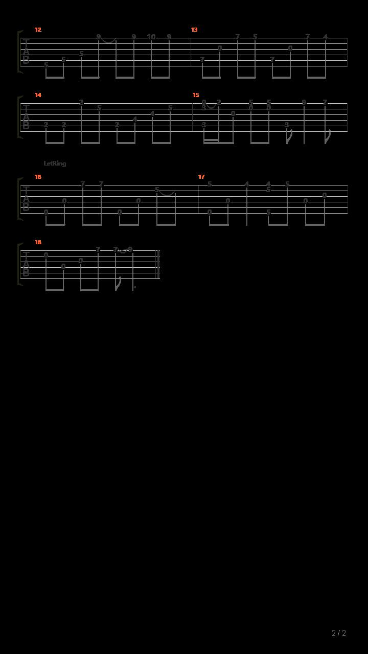 勇气(李森茂sam版)吉他谱