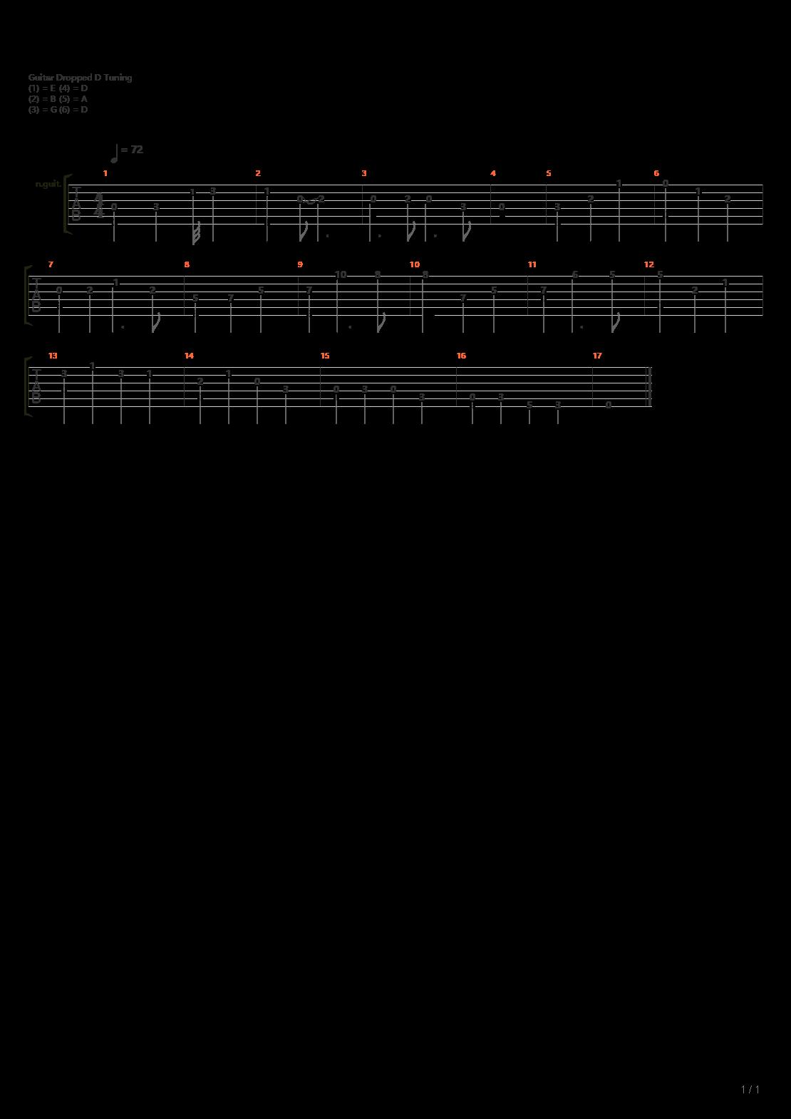 功夫熊猫 - Oogway Ascends(调弦原调指弹)吉他谱