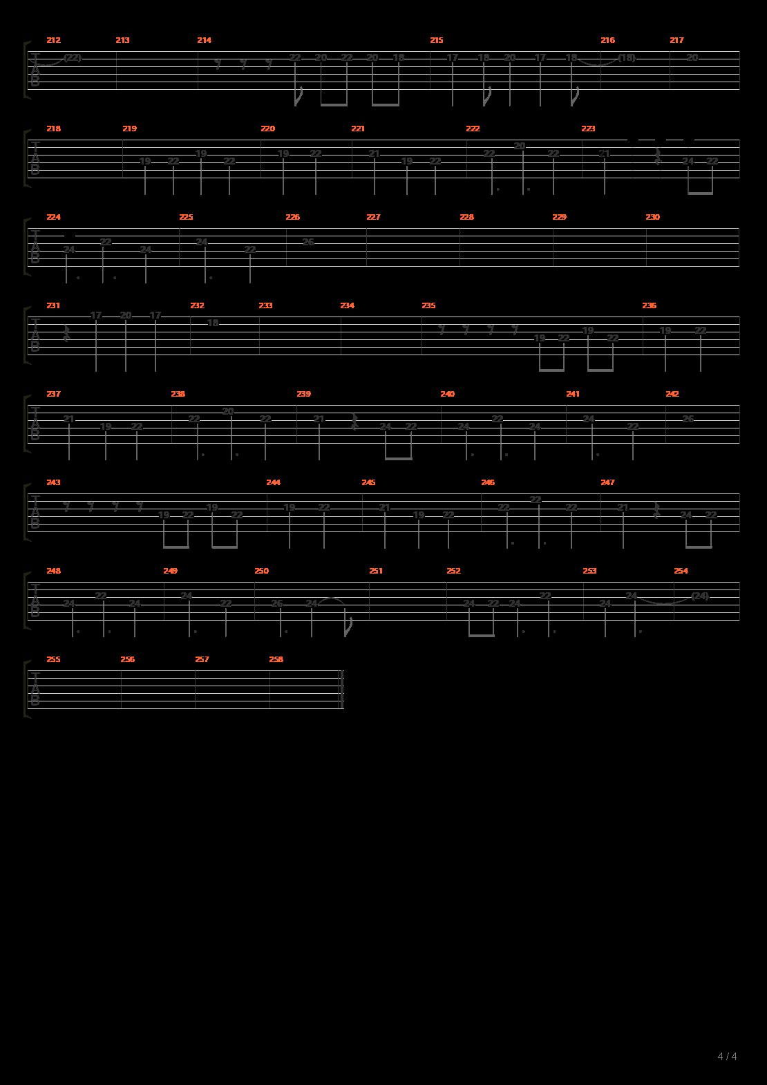 赤绫(小雨乐队总谱完整版)吉他谱