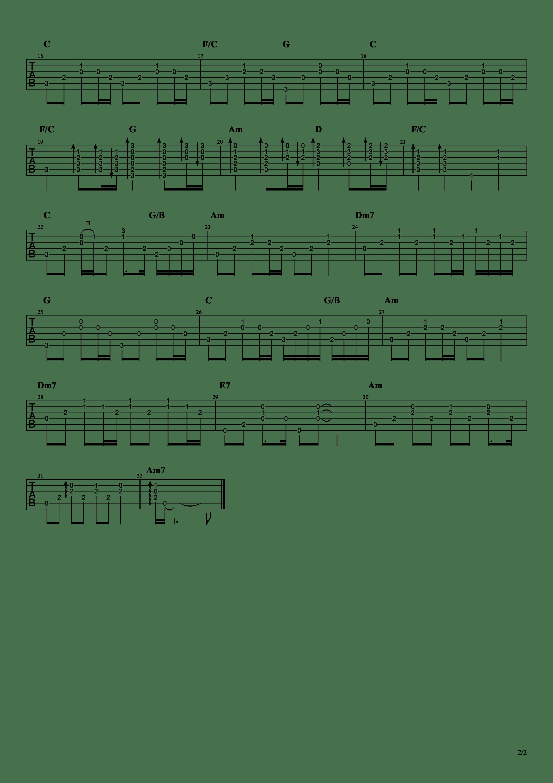 说散就散(阿迪力330)吉他谱2