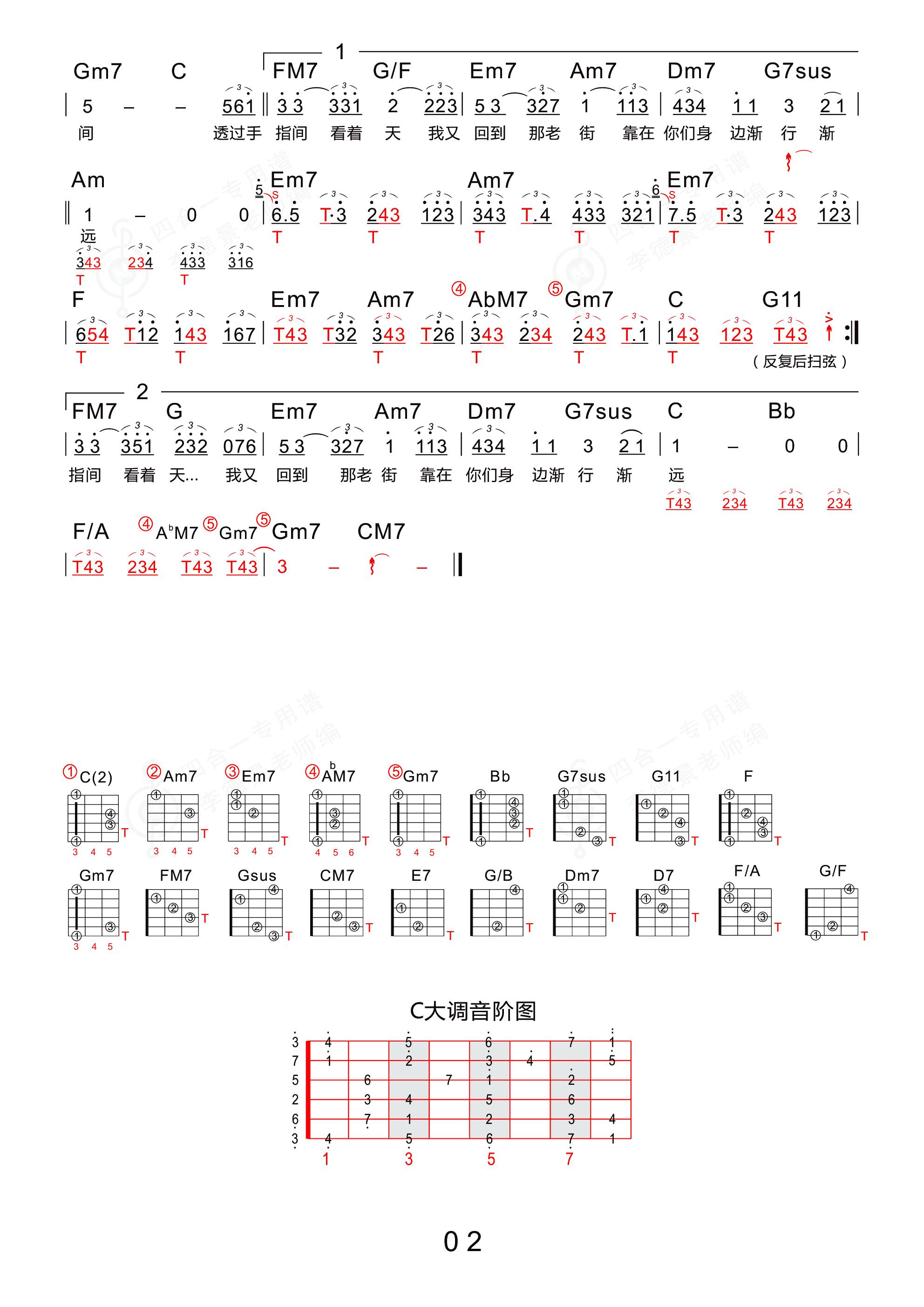老街吉他谱2