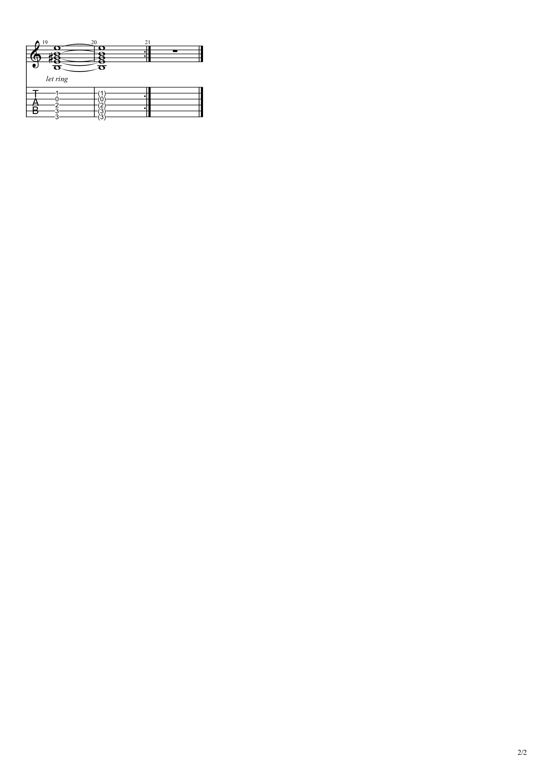 ウルトラセブンのうた(赛文奥特曼主题曲)吉他谱2