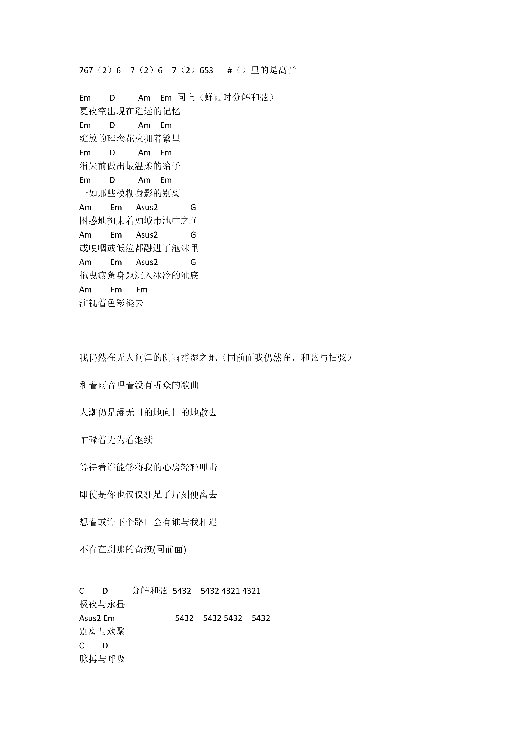 世末歌者吉他谱2