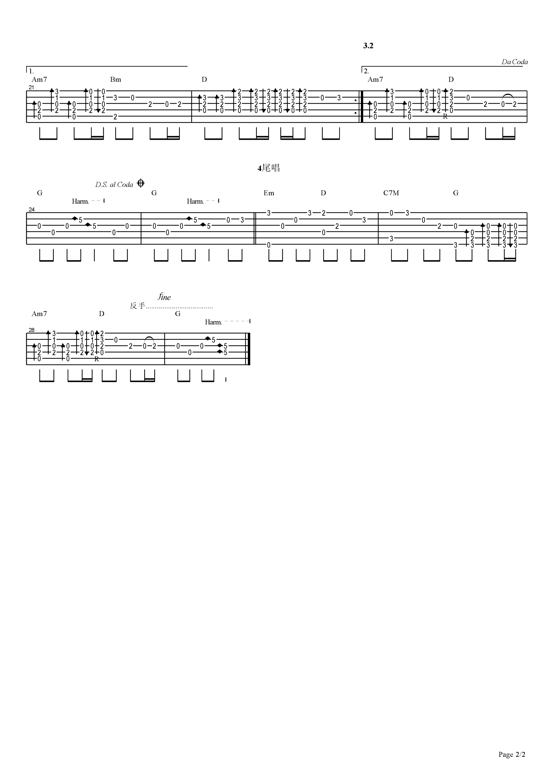 OD琴行【隐形的翅膀】独奏图片谱【初级】吉他谱2