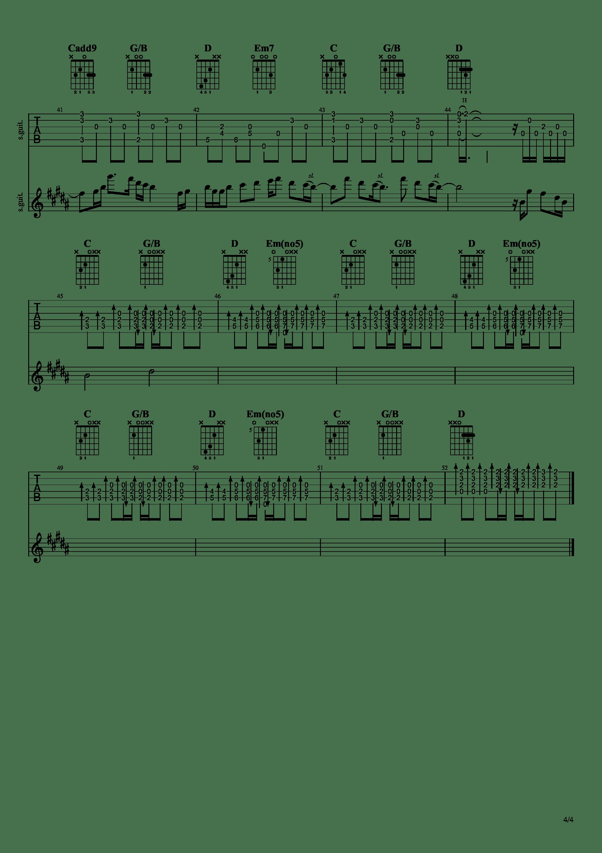 雨き声残響吉他谱4